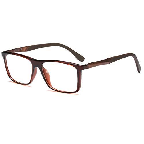 Lvminhm hoogwaardige TR90 kunststof titanium brilmontuur mannen optische glazen vrouwen