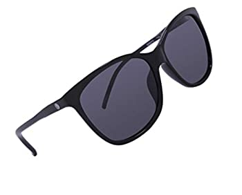 CrushEyes Blessed Women s Modern Vintage Cat-Eye Silhouette Sunglasses Elegant Thin Gloss Black Frame and 100% UV Protection Square Smoke Colored Scratch Resistant Lens
