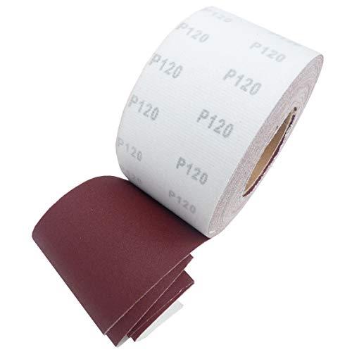 25m KLETT - Schleifpapier Rolle 93mm X 25m Korn P120 Schleifband Schleifrolle Rollenschleifpapier BOHRFUX