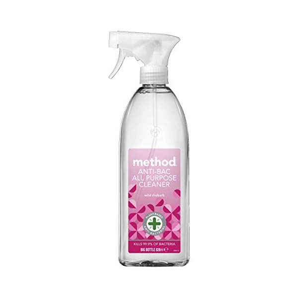 Method Antibacterial Spray, All Purpose Cleaner, Wild Rhubarb, 828 ml