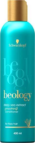 Schwarzkopf beology Geschmeidigkeits-Spülung, für widerspenstiges Haar, mit Tiefsee-Extrakt, 3er Pack (3 x 400 ml)