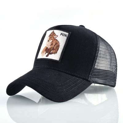 8 Tipos deGorras de bisbol para Hombres Gorras Snapback de Malla Transpirable Unisex Sombrero para el Sol para Mujeres Casquette Hip Hop-Fox BK