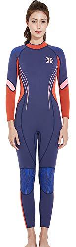E-Qianw Wetsuit para Mujer 3MM Material De Neopreno Trasero con Cremallera Traje De Buceo para Practicar Surf Kayaking Y Actividades De Muti Propósito,L