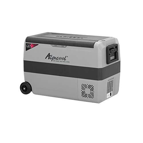 Alpicool APLT50-LG DualTemperatureControl12VoltRefrigerator53Quart PortableCarFridgeFreezer (-4°F~68°F) forTruck, RV, Boat, CampingandTravel