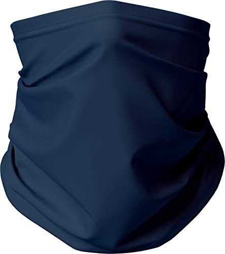 Gaiter King, Neck Gaiter Cooling Face Mask Made in California from 100% Breathable Polyester – Moisture Wicking Facial Protection from Sun, Dust, Cold, Wind (Navy)