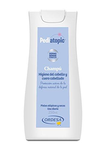 Pediatopic Champú 250ml, gel de higiene emoliente para el cuidado y protección del cabello y cuero cabelludo de las pieles atópicas y/o extremadamente secas.