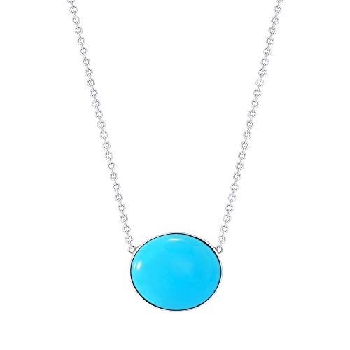 Sleeping Beauty Turquoise Pearl /& Lapis 925 Silver Pendant Jewelry Blue Woman Gift Daughter Wife Mom Pendant Mothers Day Gift