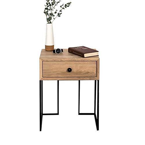 Lapdesks ZR Table Murale- Table D'appoint, Table Chevet, Meuble d'angle Chambre À Coucher Table Chevet, Console en Fer Forgé, Tiroir en Bois -économiser de l'espace