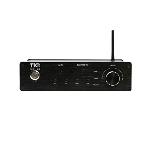 AMP150 WiFi(AirPlay2)&Bluetooth5.0 2x100W Amplifier w/USB,Audio-in,Fibre,HDMI Inputs