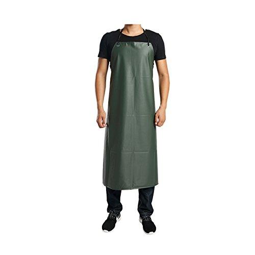 JINZA Schwarze Lederschürze/Wasserfeste und ölbeständige Herren- und Damenschürzen Hotel-Gastronomie Küchenchef-Kleidung Kittel Schürze Arbeitskleidung, Army Green 110 * 80