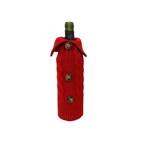 cypressen Decoración navideña para botella de vino, decoración navideña