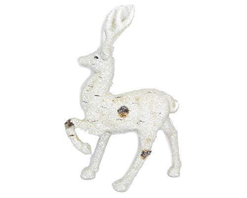 Zelda Bomboniere Renne Effet Glace Grand 20 x H.32 cm décoration ameublement Noël