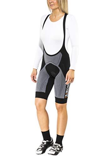 X-Bionic Biking The Trick OW Bib Comfort, Pantalone Bicicletta Donna, Nero/Bianco, M