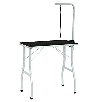 "BestPet Dog Grooming Table Adjustable Heavy Duty Pet Cat Grooming Table with Arm/Noose (36"")"