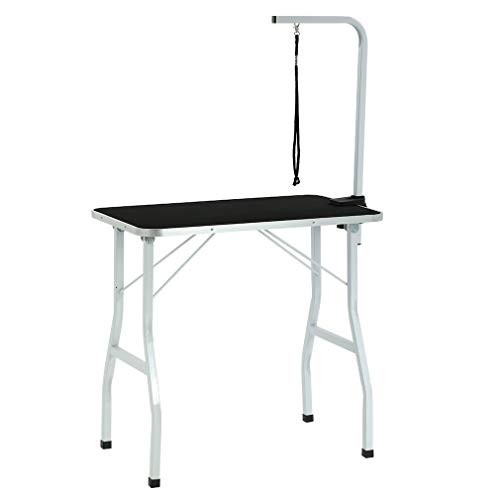 BestPet Dog Grooming Table Adjustable Heavy Duty Pet Cat Grooming Table with Arm/Noose (32')