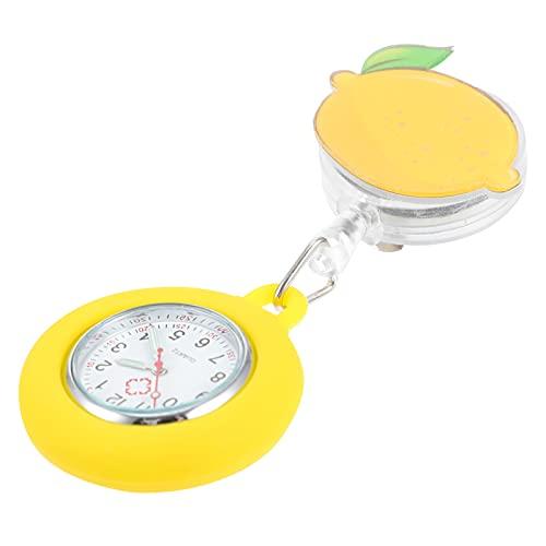 UKCOCO Reloj de Enfermera Brillante en La Oscuridad con Patrón de Limón...