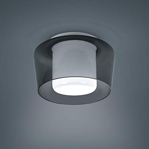Canio, E27, Außenglas grau, IP30, weiß