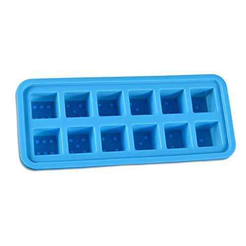 YILIAN 1pc 12 Cubos bandejas de Hielo para Hornear Molde de Hielo congelado con congelado Silicona Hielo Hielo celosía Hielo Cubos de Hielo Fabricante para Jalea Bebe Comida Agua