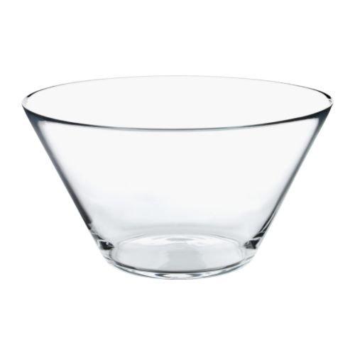 Ikea trygg–Ciotola in Vetro Trasparente–28cm
