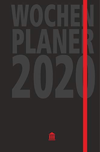 Wochenplaner 2020: Edler Kalender und Organizer, 2 Lesebändchen, Tasche für Visitenkarten, viel Platz für Notizen, verschließbar mit Gummizug