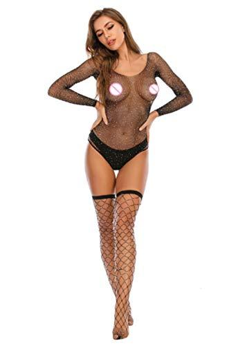 Sexy Net Lingeries Fishnet Trasparente BodyCosplay Donne SexBody Suit Erotic Bright Diamond See Through Bodystocking