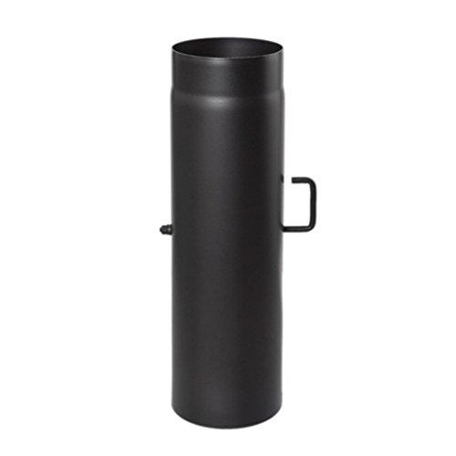 Ø 130 mm - Ofenrohr 50 cm mit Drosselklappe Schwarz