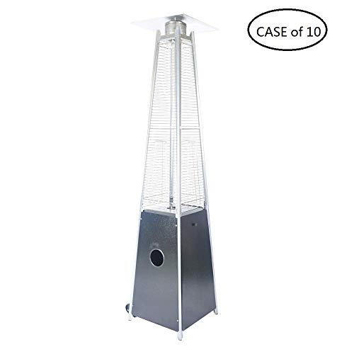 Cheap LEGACY HEATING Case of 10, Quartz Glass Tube Patio Heater, Visual Flame Heater, 40000BTU