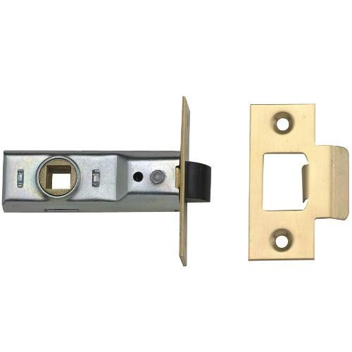 Yale P-M888-PB-64 Tubular Mortice Latch, Visi Pack, Suitable for Internal Doors, Brass Finish, 2.5...