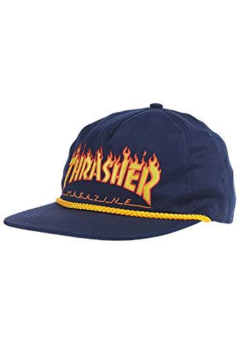 Thrasher Flame Rope Kappe, Unisex, Erwachsene, Marineblau, Einheitsgröße
