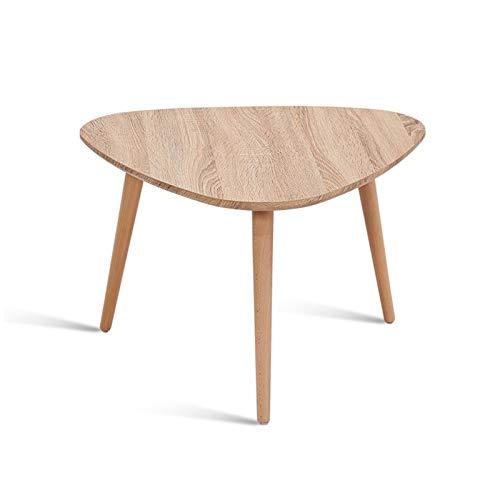 Mesas de anidación, mesas auxiliares de madera maciza para sala de estar, restaurante, cafetería, mesa auxiliar multifunción (color: #1)