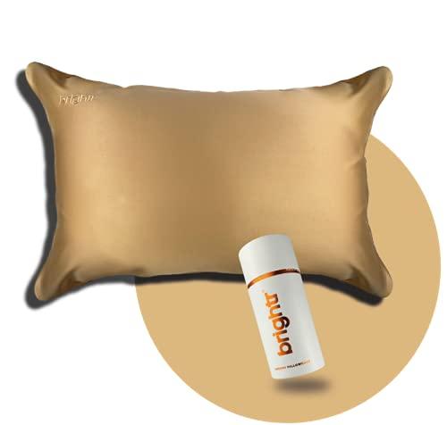 Brightr Funda de almohada de cobre de lujo | Impregnada con iones de óxido de cobre | Hipoalergénico y rejuvenecedor | Tamaño estándar 50 x 75 cm