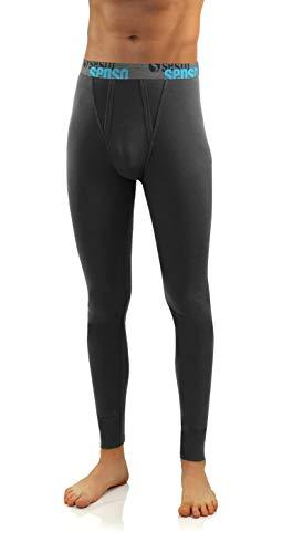 Sesto Senso® Herren Lange Unterhose Baumwolle Thermo Unterwäsche Funktionsunterwäsche Winter (L, Grau)
