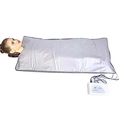 Greensen Infrared Sauna Blanket for Weight Loss Body Shaper Professional Sauna Slimming Blanket Portable Personal Safety Digital Far-Infrared Heat Sauna Blanket for Relaxation at Home Spa Beauty