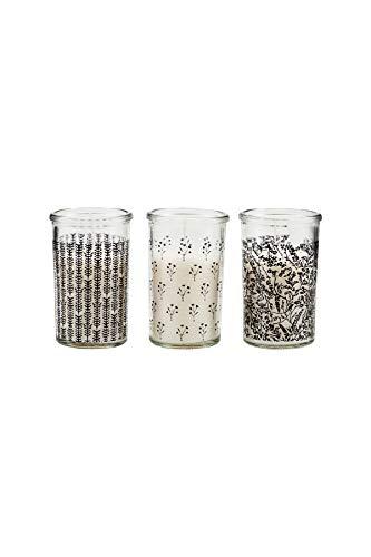 House Doctor Kerze Gras, Verschiedene Designs, Mehrfarbig, 6,3 x 6,3 cm