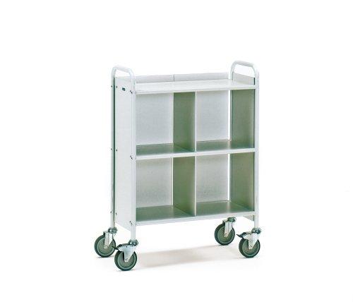 Fetra Bürowagen 150 kg, Ladefläche 720x350mm, mit 3 Böden, 1 Trenn- und 1 Rückwand