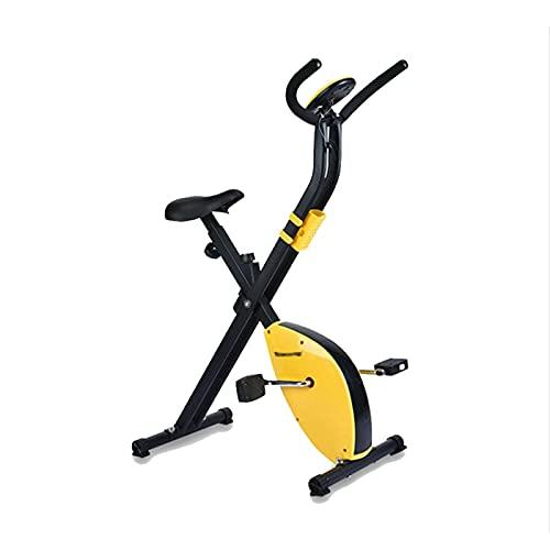 DJDLLZY Bicicleta de spinning, bicicletas estáticas, cubierta Ciclismo Bicicleta estática, la correa de transmisión directa 2,5 kg volante, control magnético, for el hogar cardio del gimnasio con cojí