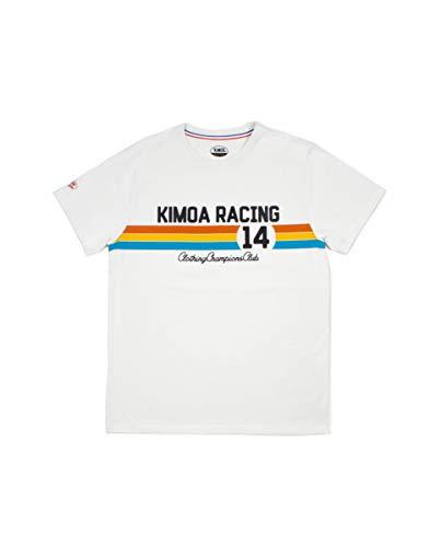 Kimoa Racing 14 Camiseta, Unisex, Crema, S
