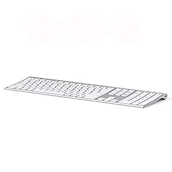 Multi-Device Keyboard for Mac OS/iOS/iPad OS Jelly Comb Bluetooth Keyboard for MacBook Pro/Air iMac iPhone iPad Pro/Air/Mini New iPad| Connect Up to 3 Devices  White and Silver
