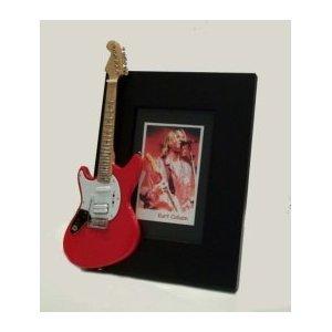 KURT COBAIN - Marco de fotos para guitarra en miniatura, color rojo