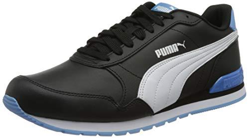 PUMA Unisex ST Runner V2 Full L Sneaker, Schwarz Weiß Team Hellblau, 42 EU