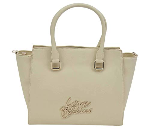 Love Moschino Logo hand bag white
