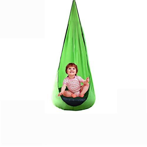 SXZHSM Parachute Kinderschaukeln - Innen-und Außenbereich Garten Hinterhof Erwachsener Schaukel Hängesessel Tragbar, Lasttragende Aufblasbare Kissen -200kg (Color : Red)
