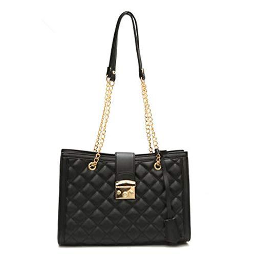 Chain Handtassen Trending handtassen voor dames Gouden Ketting handvatzakken luxe handtassen PU leer,Black,L