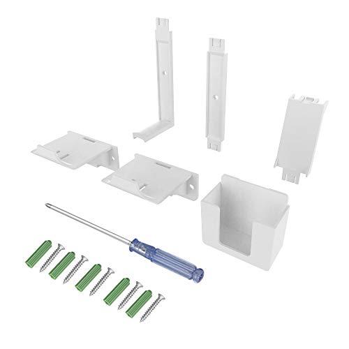 Wand-Halter für Controller, Fernbedienung und Headset PS5, PS4, Switch & Xbox kompatibel - Aufbewahrung und Ordnung an der Wand (Weiß)