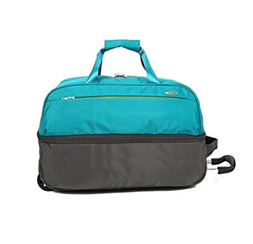 Trolley bag 46L men and women travel bag business bag 55L large capacity wheeled travel bag portable backpack (color: black, red, blue, gray)