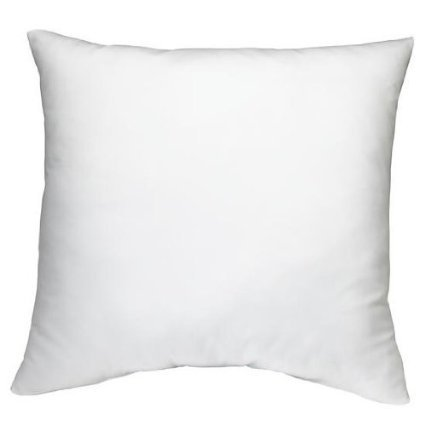 ROHI Square Poly Pillow Insert, 18' L X 18' W, White