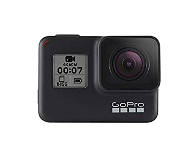 GoPro HERO7 Black — Waterproof Digital Action Camera with Touch Screen 4K HD Video 12MP Photos Live StreamingStabilization (Certified Refurbished) from GoPro Camera