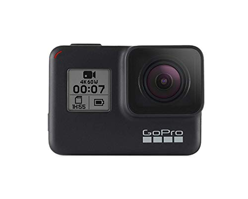 GoPro HERO7 Black Bundle Waterproof Digital Action Camera with Touch Screen (H7 Black + 2 Total Batteries + 64GB SD + Dual Battery Charger)