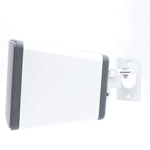 SONOS Play 3 Wall Mount, Adjustable Swivel & Tilt Mechanism, Single Bracket for Play:3 Speaker with Mounting Accessories, White, Designed in The UK by Soundbass