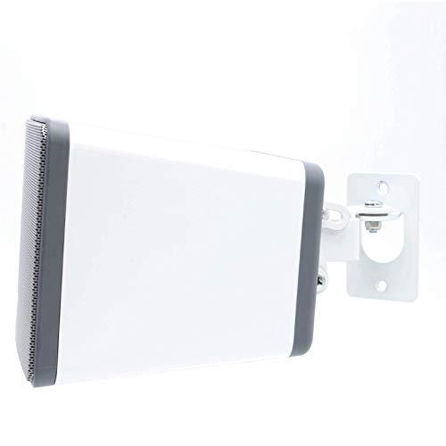 Soundbass Play 3 Wandhalterung, Verstellbarer Dreh- und Neigungsmechanismus, Einzelhalterung mit Befestigungsmaterial, weiß, kompatibel mit Sonos Play: 3 Lautsprecher In Großbritannien entwickelt